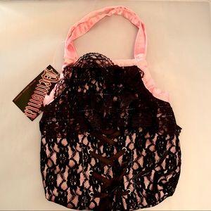 Lace Handbag w/ Corset Tie Gothic Glam Rock